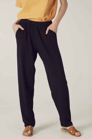 Trinity black pants by Filosofia are made with tencel and organic cotton in LA