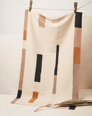 Handwoven and fair trade rug by Minna