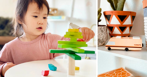 THREAD SPUN BABY GIFTS ON A BUDGET CANDYLAB TOY CARS ECO TOYS BALANCING TREE BABY TOYS