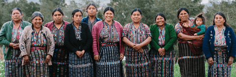 Cooperative of women weavers that work for Maya Traditions, whose textiles are sold by Thread Spun in store and online