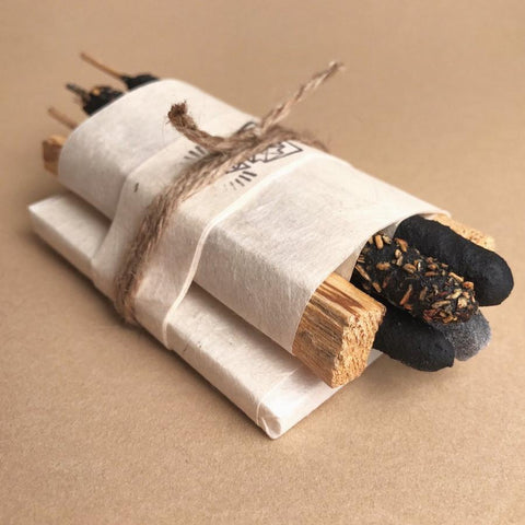 Bath and meditate bundle by Incausa includes palo santo, copal incense and essential oil soaps and is the perfect gift this holiday season 2019