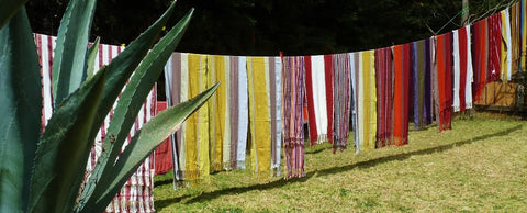 Textiles by women weavers from el camino de los altos cooperative