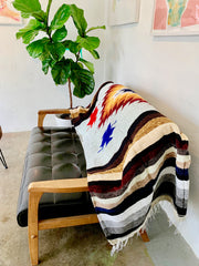 These extra large handwoven chenille blankets come from Todos Santos, Mexico, where they are handmade in the backyard of a local family.