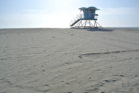 Ponto State Beach lifeguard tower
