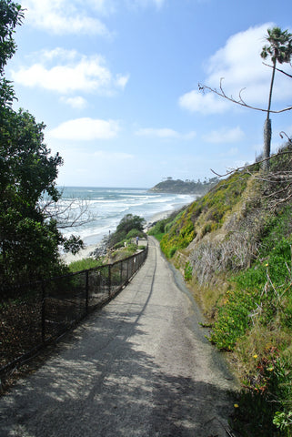 A view of Swamis Break from San Elijo Campgrounds.