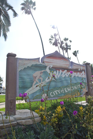 Swamis beach and surf break in Encinitas.