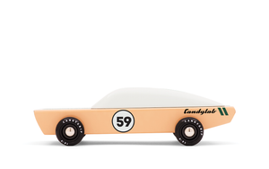 Ace Racer classic toy car by Candylab Toys features solid beech wood and water-based paints. Made sustainably, made to last, made for fun.