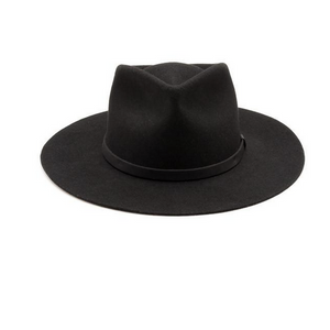 Sustainble felt fedora in the Dylan style by Yellow 108 utilizes salvaged material and is sold by handmade retailer Thread Spun in Encinitas, California