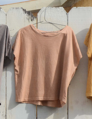 Open image in slideshow, Each California Cotton T-shirt is hand-dyed with locally-foraged native plants, illuminating the spirit of our Southern California landscape, and completed with silk-screened logo.