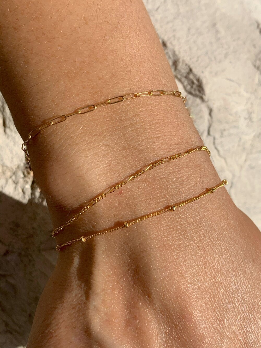 Handmade, gold bracelet. A delicate everyday bracelet. Layer it with your favorite statement pieces, or keep it classic and wear it alone.