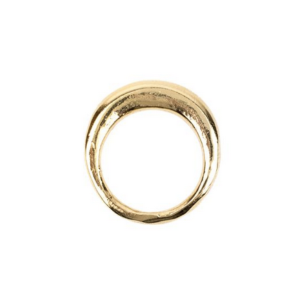 Gold-plated Flora ring handmade in Seattle by Baleen and sold by Thread Spun online and in store in San Diego
