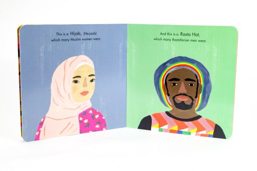This book is a beautifully illustrated, simple introduction to the shared custom of head covering across many faiths. Using accurate terminology, phonetic pronunciations and bright imagery, Hats of Faith helps educate and prepare young children and their parents for our diverse modern world.