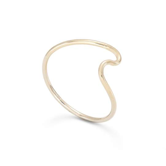 Handmade, simple gold Swell ring reminiscent of watching the oceans waves roll by. The perfect shape of the swell before it curls over and breaks.