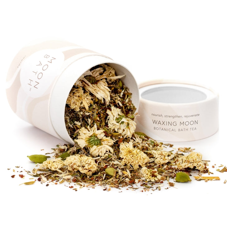 Botanical bath tea. Designed to connect you with the lunar cycle