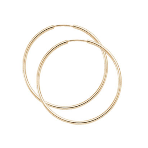 1.5x40mm Large Endless Hoop Earrings