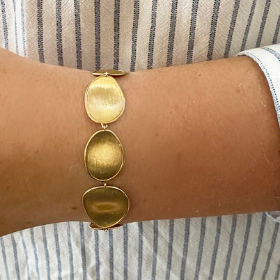 Lunaria Yellow Gold Graduated Medium Bracelet
