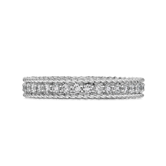 Princess White Gold Ring with Diamonds - Symphony