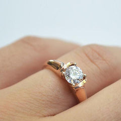 Rose 4 Prong Suspension Solitaire