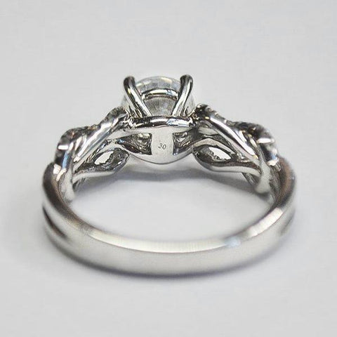 Classic Romance White Infinity Twisted Engagement Ring with Diamonds