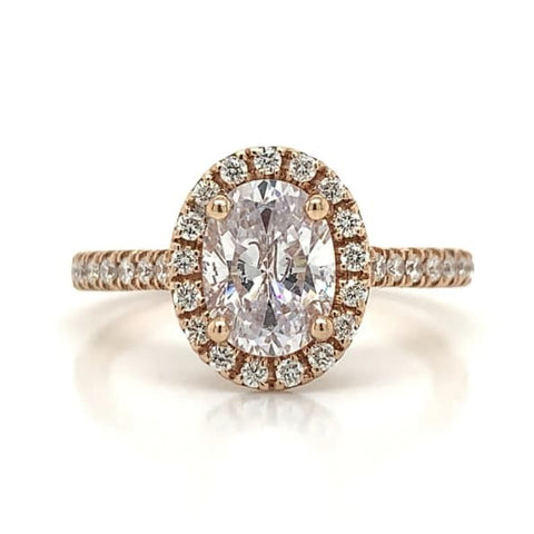 Rose Diamond Oval Halo