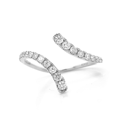 Open Delicate Bypass Pave Diamond Band