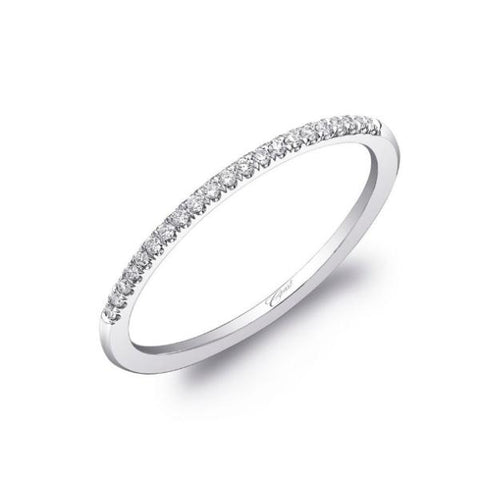 White Diamond Fishtail Pave Band