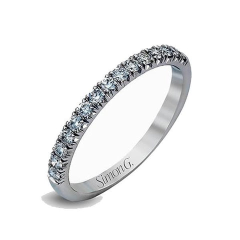 Passion White Anniversary Band with Diamonds