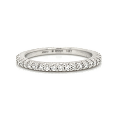 White Eternity Prong Set Diamond Band