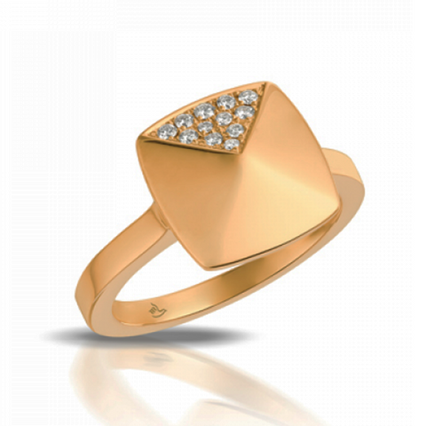 Rose Pyramid Diamond Pave Ring