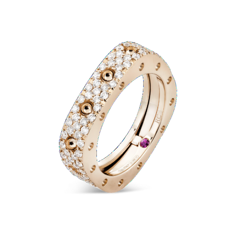 Pois Moi Rose Gold Single Ring with Diamonds