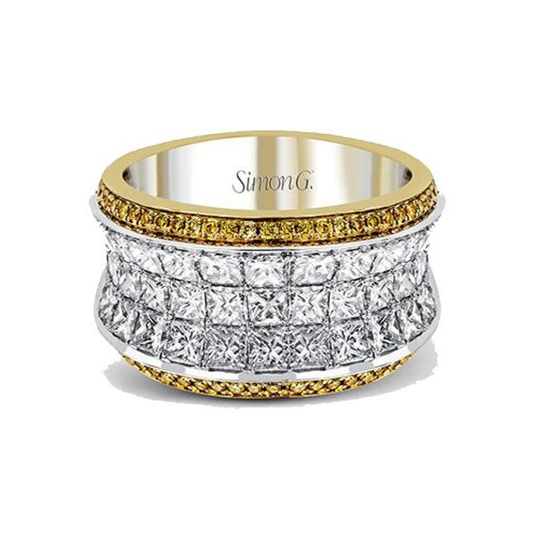 Nocturnal White and Yellow Band with Diamonds
