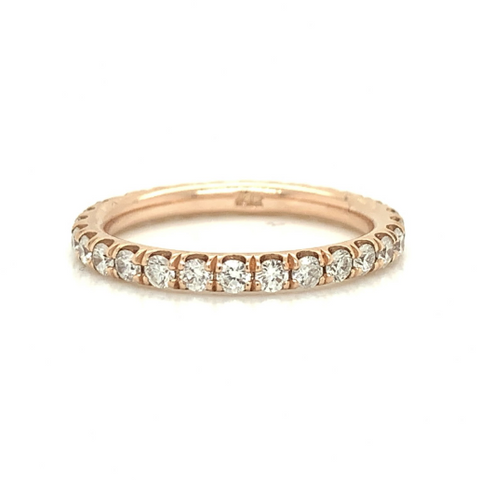 Rose Eternity Fishtail Pave Diamond Band