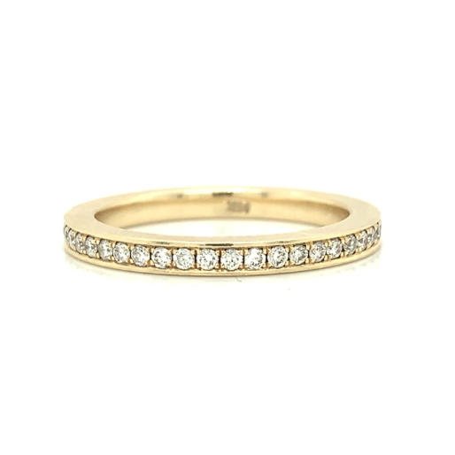 Yellow Eternity Pave Set Diamond Band