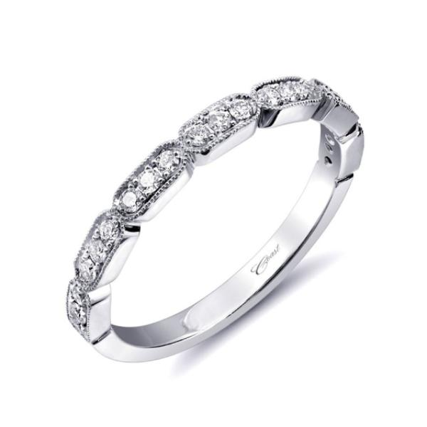 White Rectangle Diamond Band