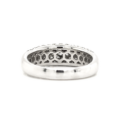White 5 Row Dome Pave Diamond Band
