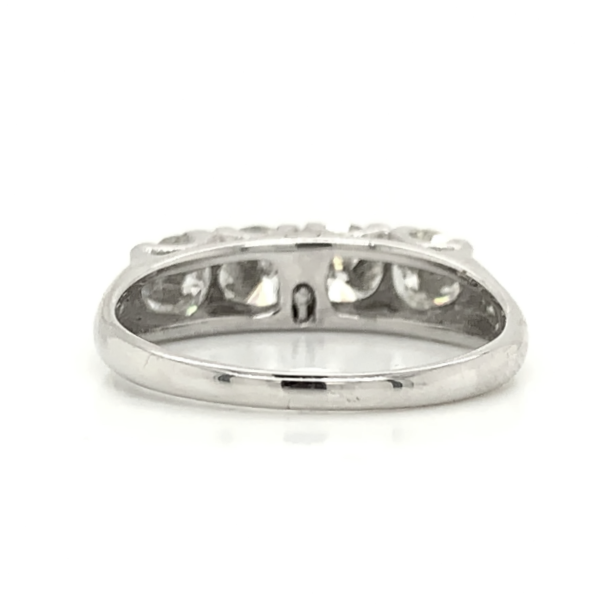 White Gold Antique Prong Set Diamond Band