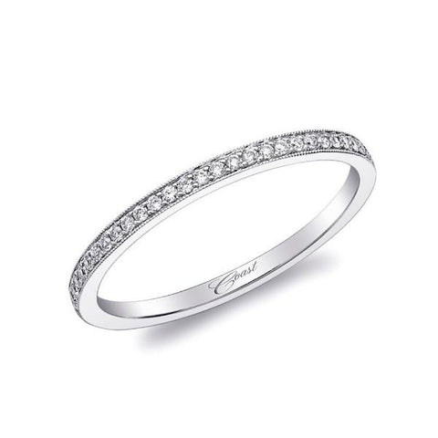 White Micro Pave Diamond Band