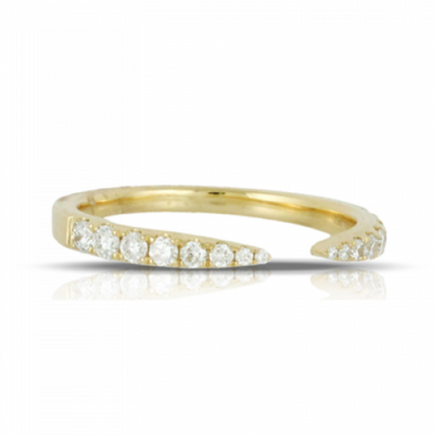 Yellow Diamond Pave Open Band