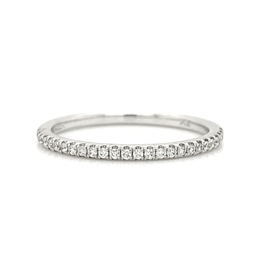 White Gold Classic Pave Diamond Band