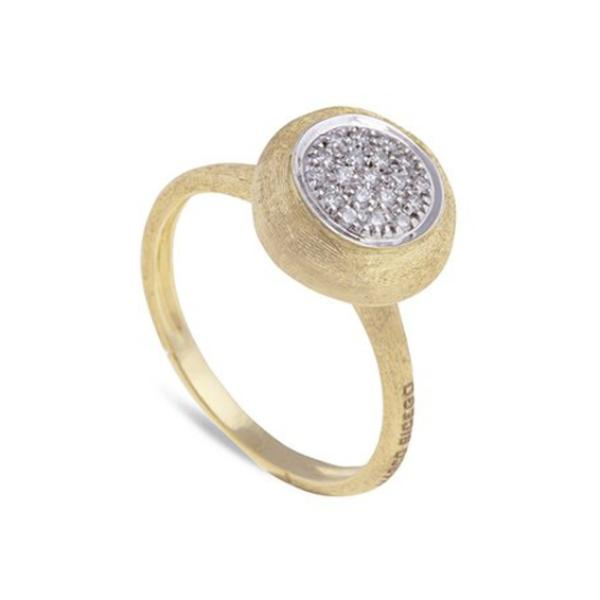 Delicati Yellow Gold with Diamond Medium Stackable Ring