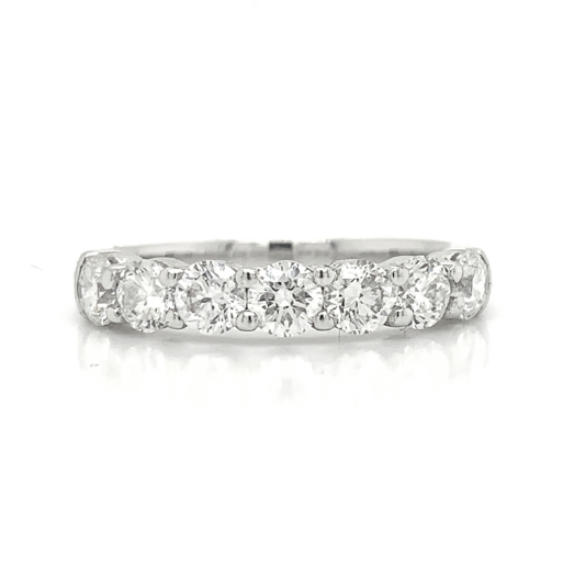 White Gold Large Shared Prong Diamond Band