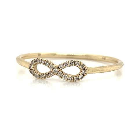 Delicate Infinity Diamond Pave Ring