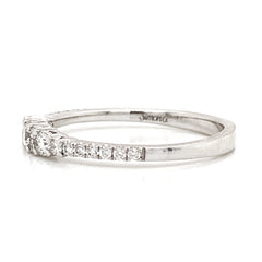 Graduated Prong Set Diamond Band
