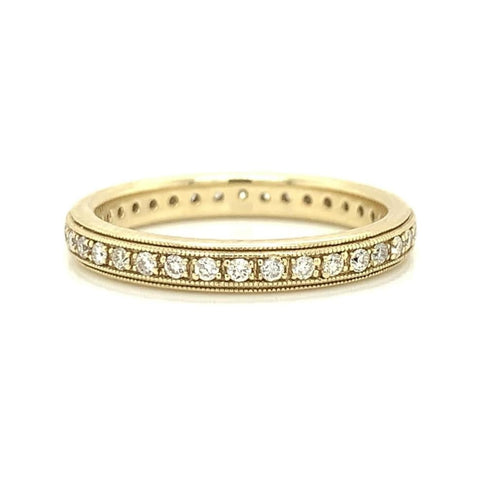 Milgrain Eternity Pave Diamond Band