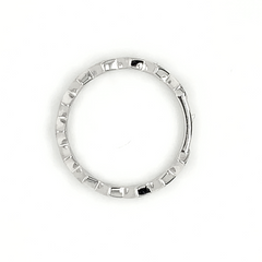 White Gold Off-Set Kite Pave Diamond Band