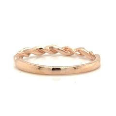 Rose Gold Twist Pave Diamond Band