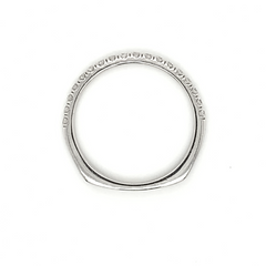 White Gold U-Set Pave Diamond Band with European Shank