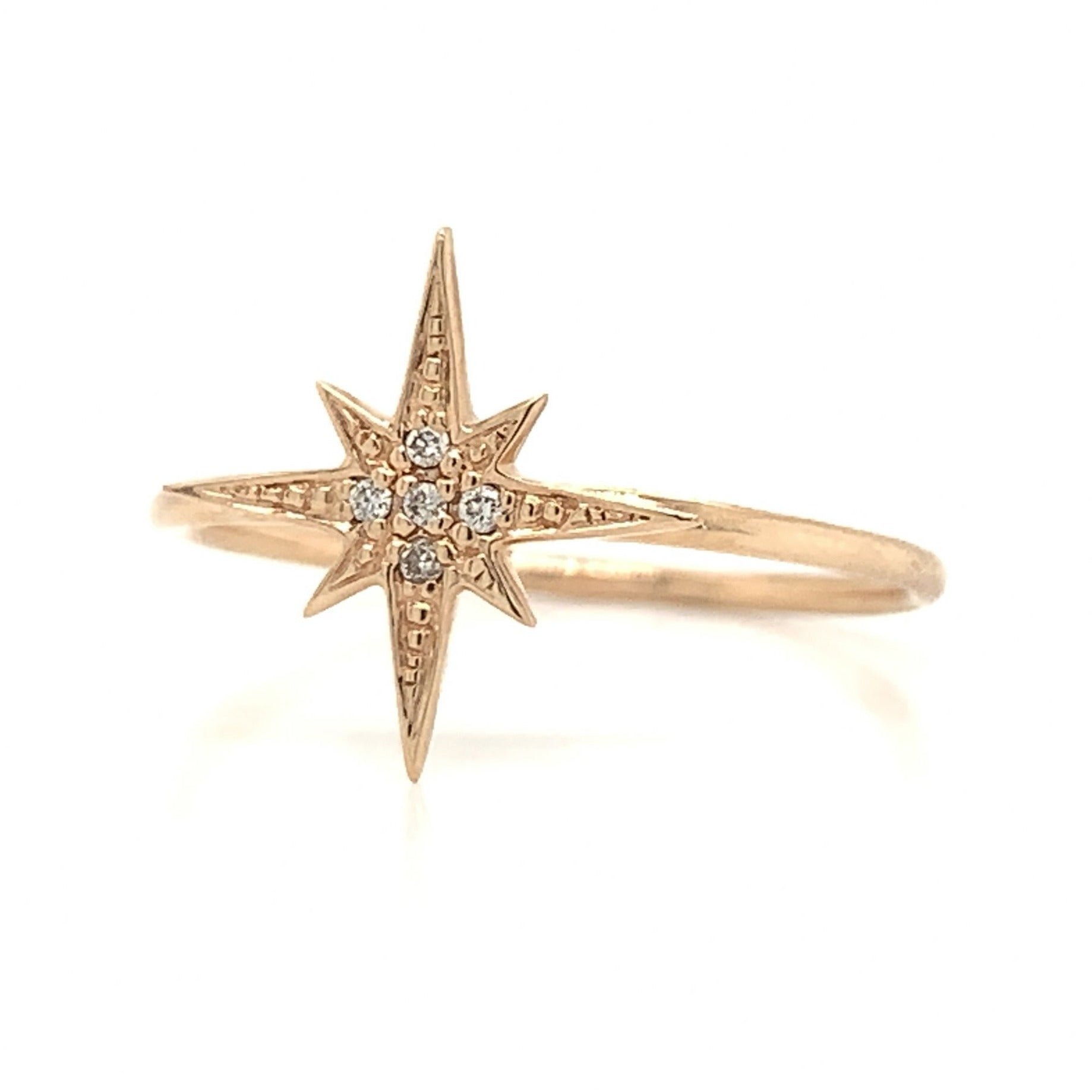 Starburst Station Diamond Pave Ring