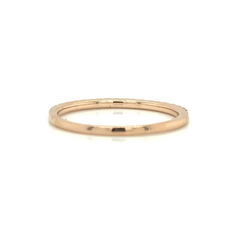 Rose Gold Petite Pave Band with Pink Diamonds