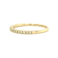 Yellow Gold Petite Pave Band with Yellow Diamonds
